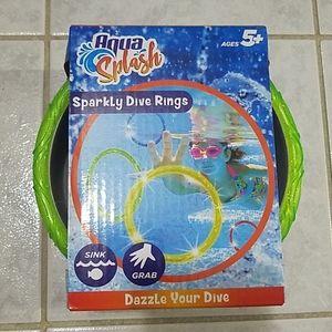 Aqua Splash Sparkly Dive Rings